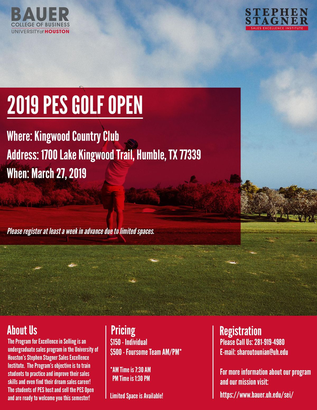 University of Houstons 2019 PES Golf Open Hosted At The Kingwood Country C