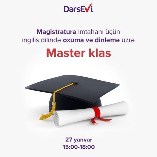 Magistratura imtahan n Listening & Reading zr master klas