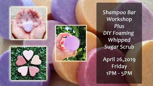 Shampoo Bar Making Workshop  Foaming Whipped Sugar Scrub