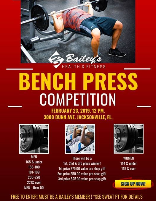 Bench Press Competition With Sweat Pt At 3000 Dunn Ave