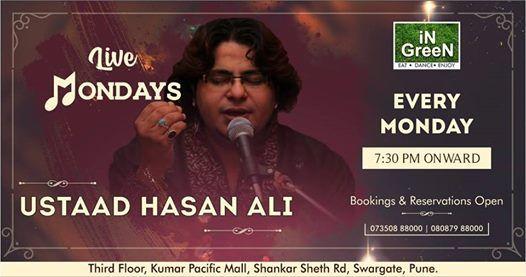 Live Monday Gazal Performance By Ustaad Hasan Ali at Ingreen Kumar