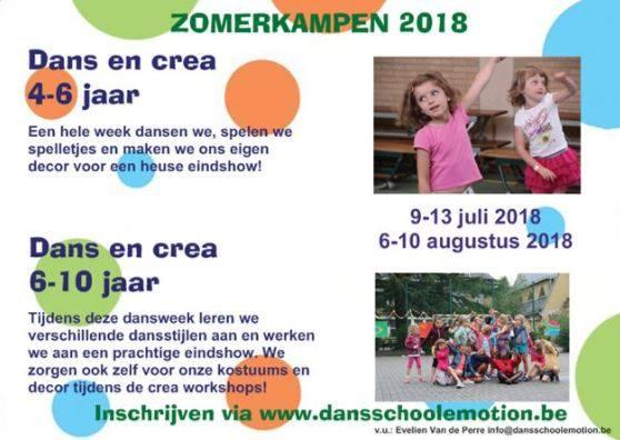 Dans en crea 9 tot 13 juli