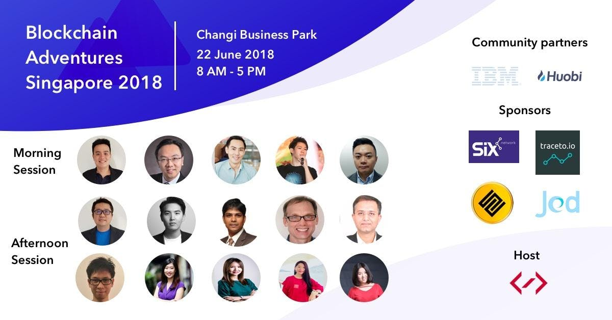 Blockchain Adventures Singapore Chapter 2018