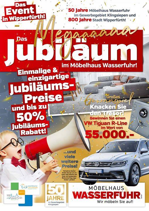 Verkaufsoffener Sonntag Und Jubiläum At Möbelhaus Wasserfuhr