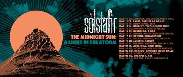 Concert Solstafir - The Midnight Sun a Light in the Storm