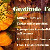 Gratitude Feast &amp Meeting