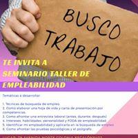Seminario Taller De Empleabilidad Para La. Bsqueda De Empleo.