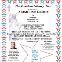 The Freedom Library A Night For Liberty Annual Fundraiser
