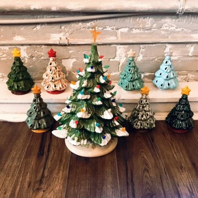 Ceramic Christmas Tree Painting Class At Bless Your H Art Pottery