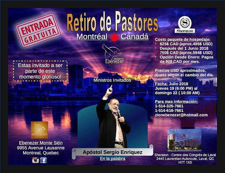 Retiro de Pastores Montreal 2018