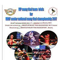 MINF Senior National Muaythai Championship Trails For Mp Team
