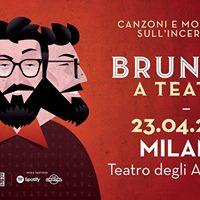 Brunori a Teatro - Milano - Teatro degli Arcimboldi