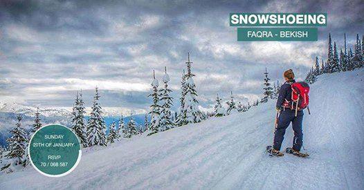 Snowshoeing Faqra - Bekish