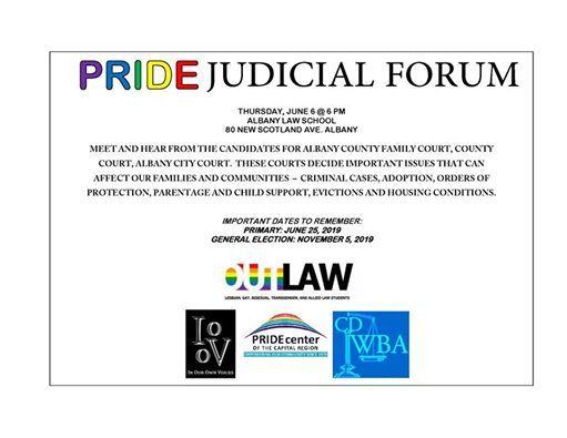 Pride Judicial Forum at Albany Law School, New York