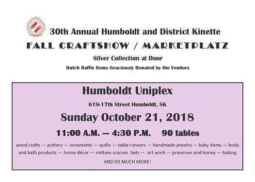 Humboldt Kinette Fall Craftshow and Marketplatz