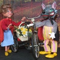 Red Riding Hood marionettes at Tallaght Library