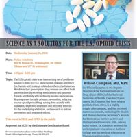 TRIAD seminar - Science as the Solution to the Opioid Epidemic