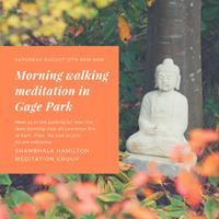 Outdoor Morning Walking Meditation