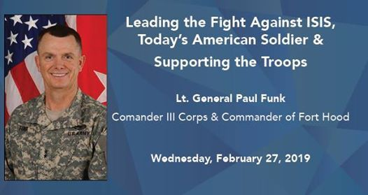 Breakfast Leading the Fight Against ISIS with General Paul Funk