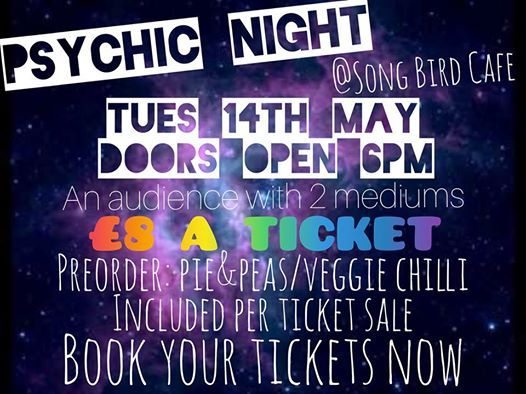 Psychic Night SOLD OUT at Song Bird Cafe, Halifax