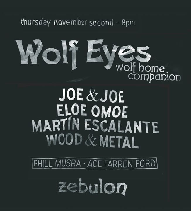 PsyJazz 2 Wolf Eyes Joe & Joe Eloe Omoe Wood & Metal