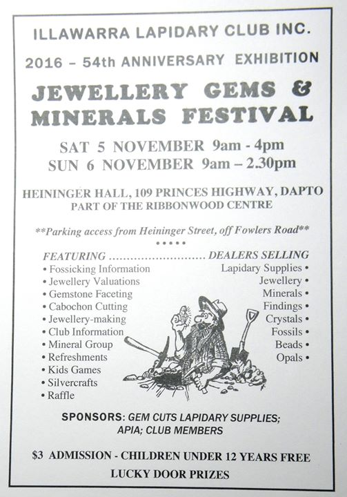 Jewellery Gems & Minerals Festival at Dapto Ribbonwood