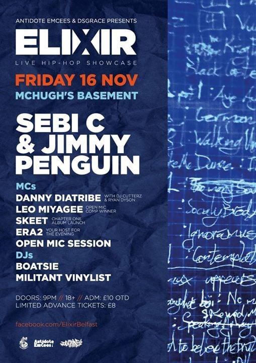 Elixir #8 Sebi C & Jimmy Penguin (McHughs Basement) at