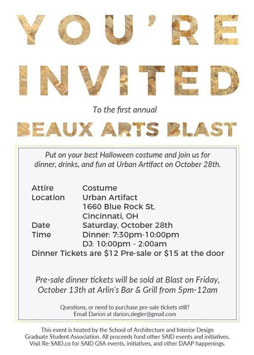 Beaux Arts Blast - Halloween Party at Urban Artifact, Cincinnati