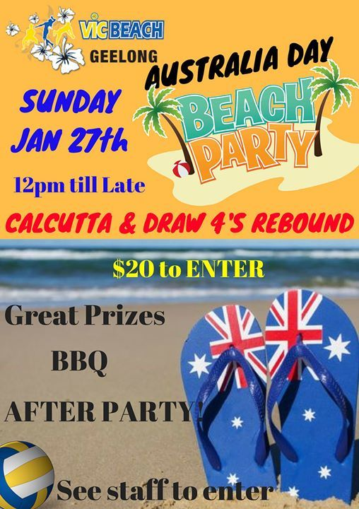 Australia Day Beach Bash & After Party