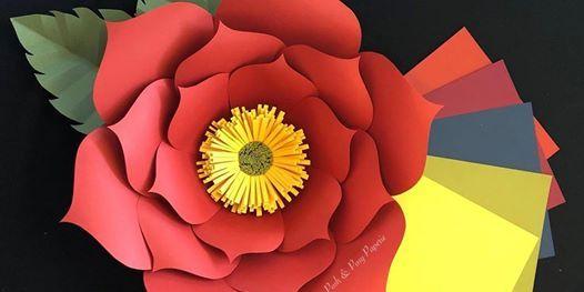 Fall Vibes  $10 Paper Flower Class   Fall Home U0026 Garden Show 2018