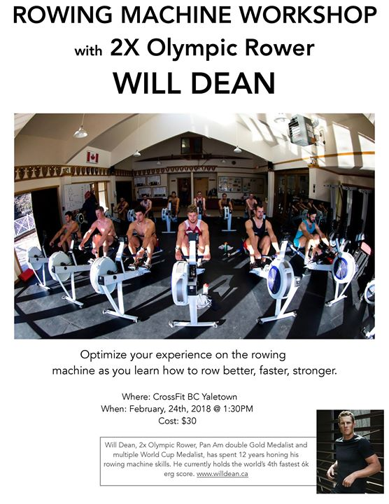 CrossFit BC x Will Dean Rowing Seminar