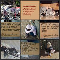 Pads for homeless girls