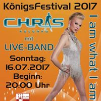 CHRIS &amp Band mit &quotI am what I am&quot beim Open Air Knigsfestival