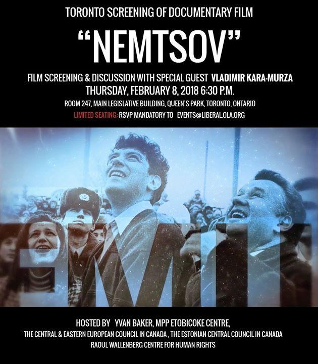 Nemtsov Screening and Discussion With Vladimir Kara-Murza
