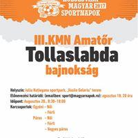 III. KMN amatr tollaslabda bajnoksg