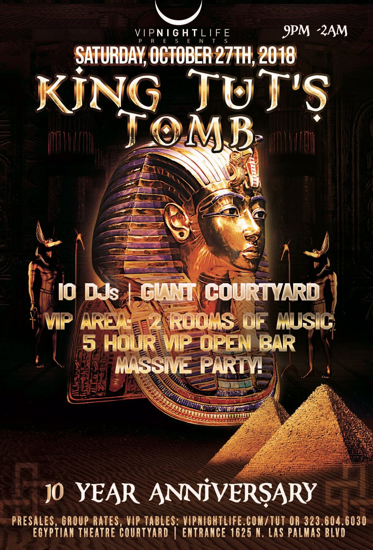 10th annual king tuts tomb la halloween party