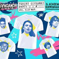 Propaganda T Shirt Giveaway  31.03.2017  4 Guest list