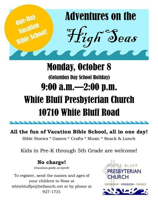 One Day Bible School At White Bluff Presbyterian Church Savannah