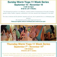 Thursday Warm Yoga 11 Week Series