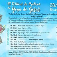 III Festival de Prticas de Yoga do Gerar