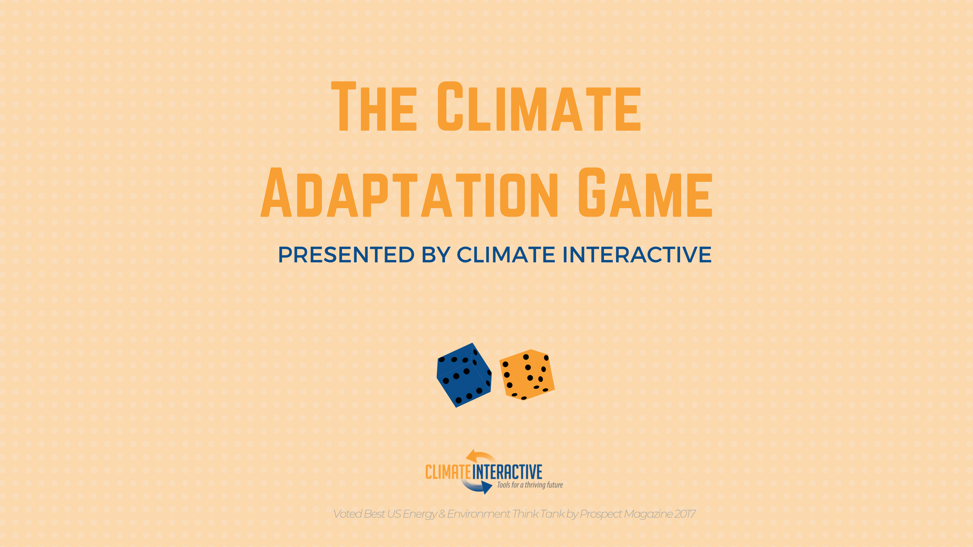 The Climate Adaptation Game