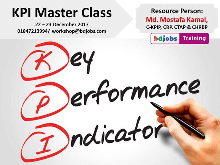 KPI Master Class at Bdjobs Training, Dhaka