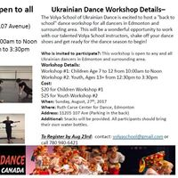Ukrainian Dance Workshop - All Edmonton and Surrounding Area