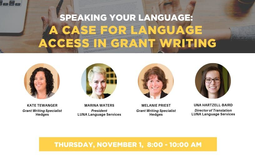 Speaking Your Language A Case for Language Access in Grant Writing