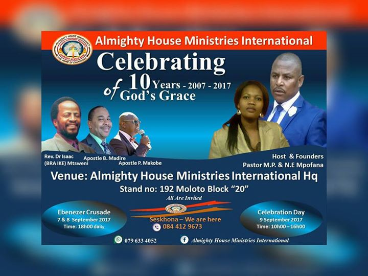 10 Years Anniversary Celebrating One Decade In Ministry