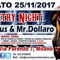 Sab. 25112017 Super Country Night allo Spazio Epoca di Milano