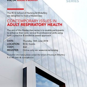 Masterclass Contemporary Issues in Adult Respiratory Health