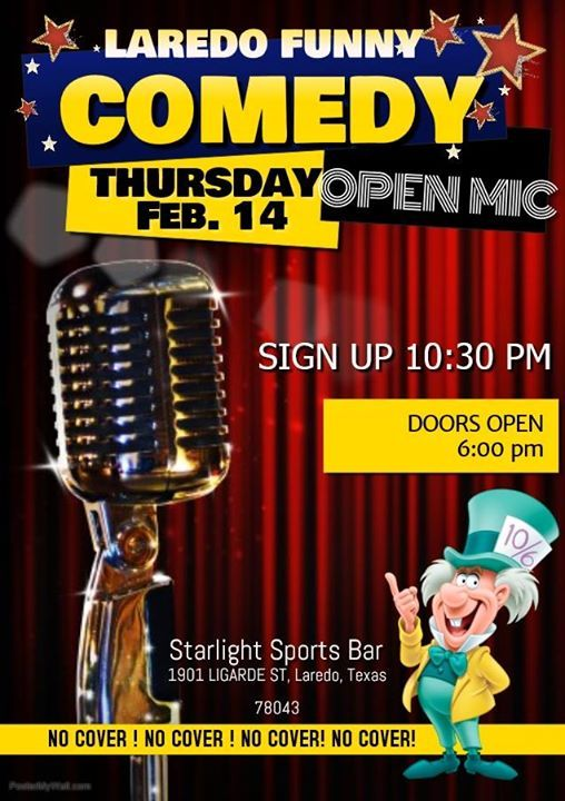 Mad Hatters present Laredo Funny Comedy