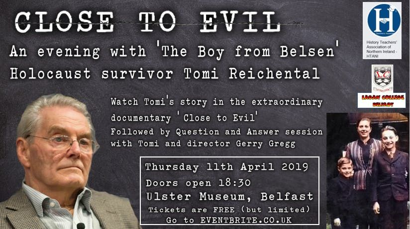 Close to Evil An evening with Holocaust survivor Tomi Reichental
