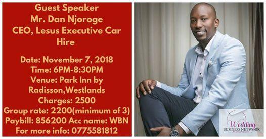 Wedding Business Networking Night At Park Inn By Radisson Nairobi